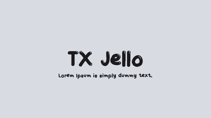 Download Font Tx Jello